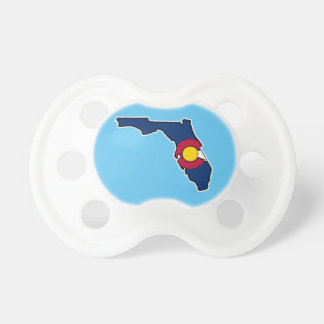 Florida Colorado flag baby pacifier