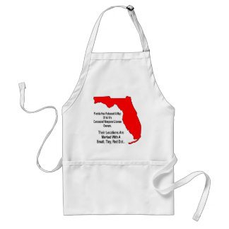 Florida Concealed Weapons License Owners Adult Apron