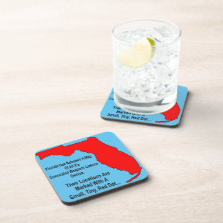 Florida Concealed Weapons License Owners Drink Coaster