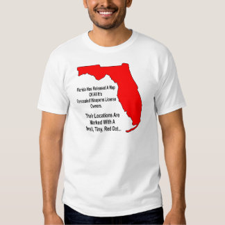 Florida Concealed Weapons License Owners T Shirt