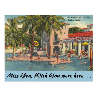 Florida, Coral Gables, Venetian Pool Postcard