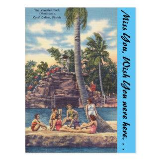 Florida, Coral Gables, Venetian Pool Postcard