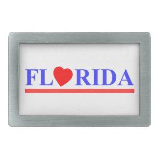 Florida corazón rojo hebillas cinturón rectangulares