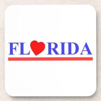 Florida corazón rojo posavaso