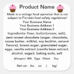 FLORIDA Cottage Food Law Sticker/Label