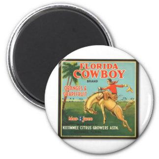 Florida Cowboy 2 Inch Round Magnet