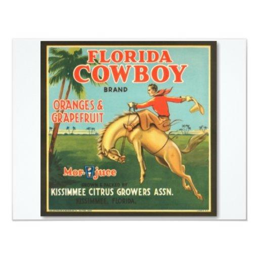 Florida Cowboy 4.25x5.5 Paper Invitation Card