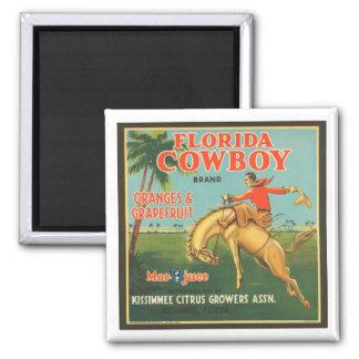 Florida Cowboy Kissimmee Citrus Growers Vintage Cr Magnet