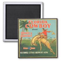 Florida Cowboy Magnet