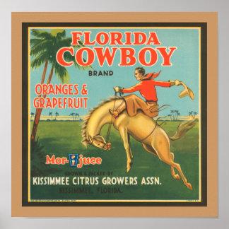 Florida Cowboy Poster