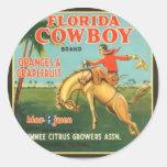 Florida Cowboy Sticker