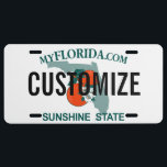 "Florida Custom License Plate<br><div class=""desc"">Customizable Florida license plate. Personalize and add your own custom text!</div>"