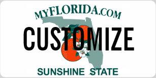 Florida Custom License Plate