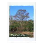Florida Cypress Swamp Vertical 5x7 Paper Invitation Card