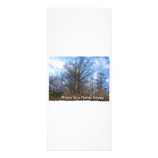 Florida Cypress Swamp Winter scene Customized Rack Card