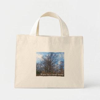 Florida Cypress Swamp Winter scene Tote Bag