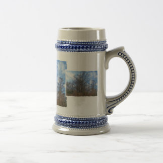 Florida Cypress winter scene swamp blue sky Coffee Mugs