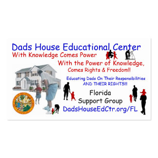 Florida Dads House ED Ctr Business Card