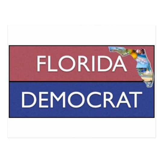FLORIDA DEMOCRAT DESIGN POSTCARD