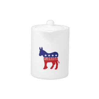 Florida Democrat Donkey Teapot