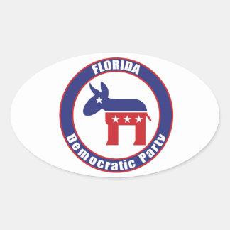 Florida Democratic Party Oval Sticker