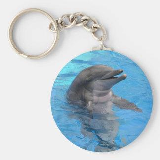 Florida Dolphin Basic Round Button Keychain