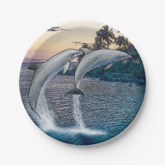 Florida Dolphins Paper Plates