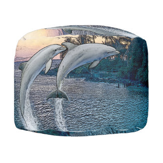 Florida Dolphins Pouf