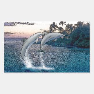 Florida Dolphins Rectangular Sticker