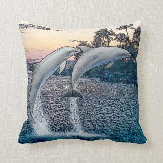 Florida Dolphins Throw Pillow