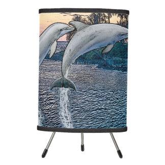 Florida Dolphins Tripod Lamp