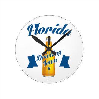 Florida Drinking team Round Clock