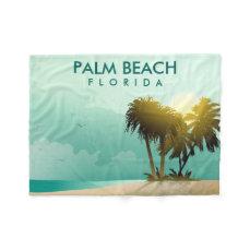 Florida - Editable Illustration Fleece Blanket