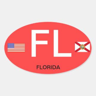 Florida* Euro-Style Oval BumperSticker Oval Sticker