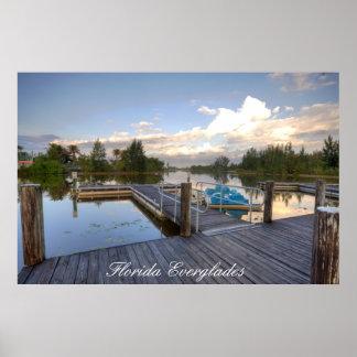 Florida Everglades Boat Dock Print