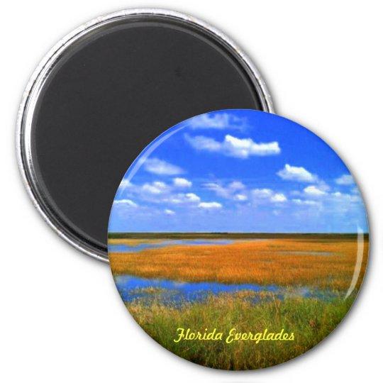 Florida Everglades Buttons Magnet