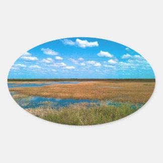 Florida Everglades Oval Sticker