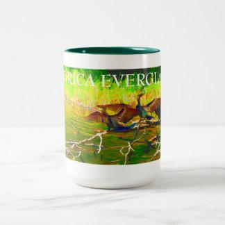 Florida Everglades Two-Tone Coffee Mug