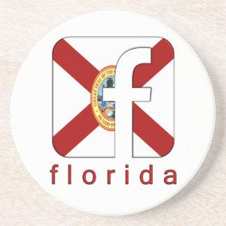 Florida Facebook Logo Unique Gift New Design Coaster