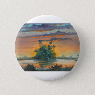 Florida Fire Sky -  Last Days of May Pinback Button