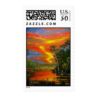 Florida Fire Sky Postage Stamps