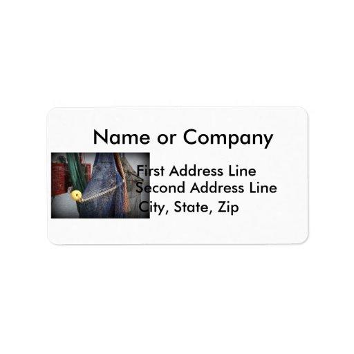 Florida fishing boat net closeup, faded version custom address labels