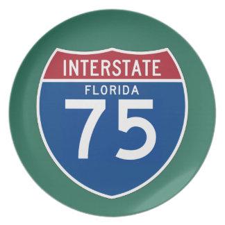 Florida FL I-75 Interstate Highway Shield - Melamine Plate