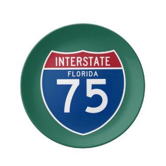 Florida FL I-75 Interstate Highway Shield - Plate