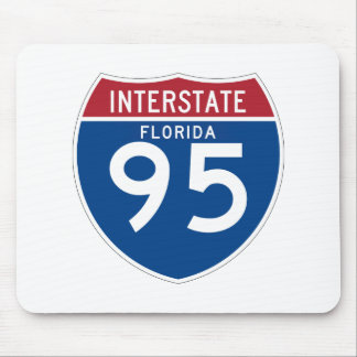 Florida FL I-95 Interstate Highway Shield - Mouse Pad
