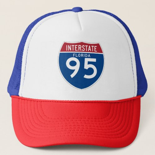 Florida FL I_95 Interstate Highway Shield _ Trucker Hat