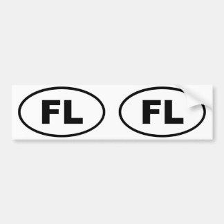 Florida FL oval Bumper Sticker