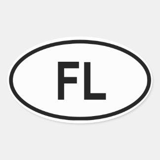 "Florida ""FL"" Oval Sticker"