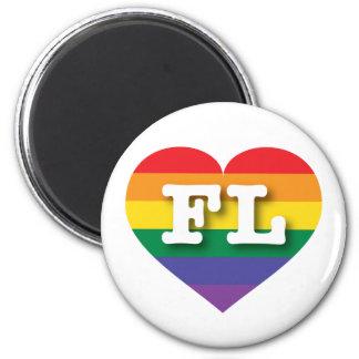 Florida FL rainbow pride heart Magnets