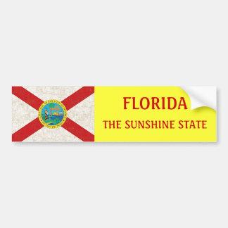 FLORIDA FLAG AGED CAR BUMPER STICKER